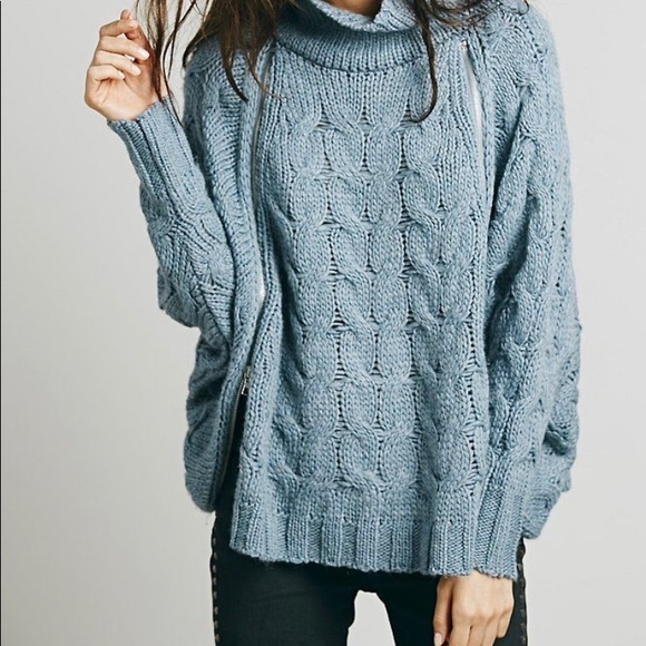 Free People Sweaters - Free People Following Directions Poncho Sweater XS